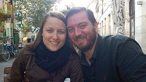 Ungerska Judith Szmodics och brittiska Mark Allen