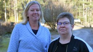 Elisabeth Grönroos och Theresa Vilhlman.