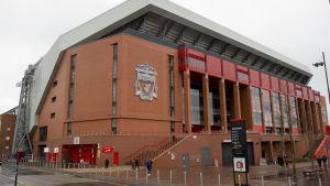 Bild utanför Anfield.