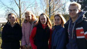 Christina Ström, Cissi Bergström, Carina Lindroos, Hanna Lindberg och Jacob Österman.