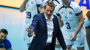 Tuomas Sammelvuo, volleybollandslagets tränare, hösten 2016.