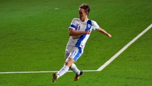 Lassi Lappalainen gjorde mål för Finland i Seinäjoki.