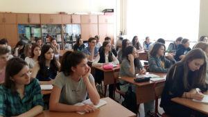 Skolklass i Lyceum 1535 i Moskva.