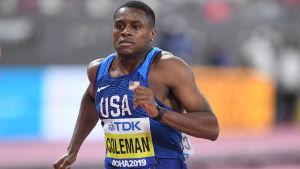 Christian Coleman löper.