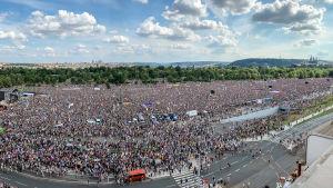 Demonstration i Prag mot premiärminister Andrej Babiš.