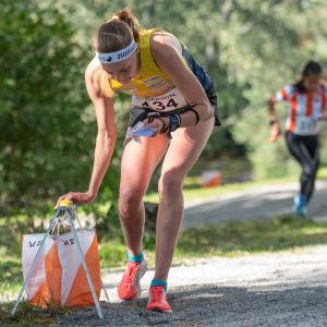 Maija Sianoja är Finlands ankare i sprintstafetten.