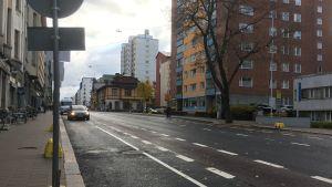 Cykelfilen på Humlegårdsgatan i Åbo.