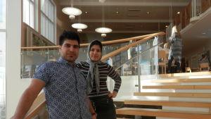 Zabi och Sonila Naziri går på åk 2 i gymnasiet i Jakobstad