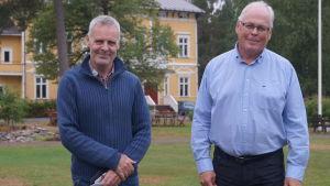Jens Emet och Tom Hansén på Kronoby folkhögskola.