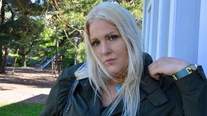 Clara Wahlström är med i duon som gör Hangöpodden sommaren 2015.