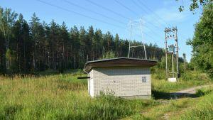 Pumpstation vid Ekerö vattentäkt i Horsbäck.
