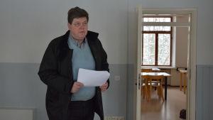 Fastighetschef Seppo Pihl i Pargas.