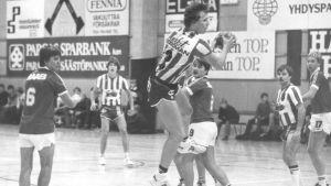 Mikael Källman och Jan Rönnberg i BK-46 under tidiga 1980-talet.