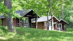 Stugor på campingplatsen i Kokon i Borgå