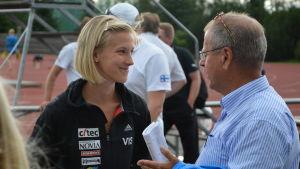 Camilla Richardsson och Tom Andtbacka, SFIM, juli 2014.