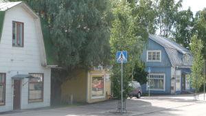 döda butiker längs med stora byvägen i nickby, sibbo