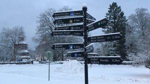 Skyltar i Ingå kyrkby