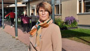 Siv Martelin är rektor för Kyrkostrands skola i Jakobstad.