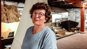 Britt-Lis Henriksson-Sederholm är en av de aktiva talkoarbetarna i Rönnäs Skärgårdsmuseum