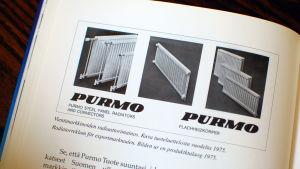 Reklam för Purmo-radiatorer