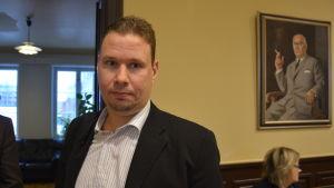 Jonas Lindholm, fullmäktigeordförande i Korsnäs.
