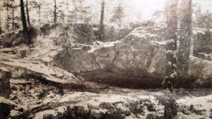 Tidningsurklipp, Jonundristningen i Höysal.