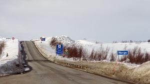 Gränsen mellan Norge och Finland i Kilpisjärvi.