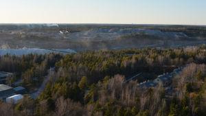 utsikt över gruvområdet i pargas
