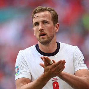 Englands Harry Kane i matchen mot Kroatien.