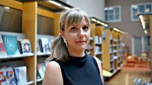 Rauha Maarno från Finlands Biblioteksförening.