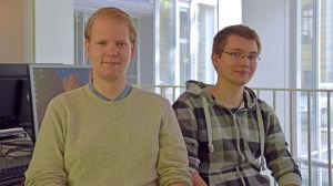 Niklas Backlund från Vanda och Henrik Ekelund från Esbo.