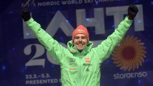 Johannes Rydzek vann fyra VM-guld i Lahtis.