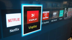 Viaplay-sovellus television valikossa.
