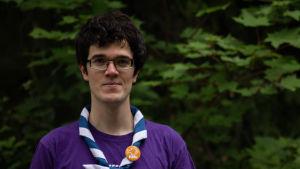 Victor Spiby, ordförande för Finlands Svenska Scouter