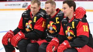 Jokerits kaptener 2019-2020: Marko Anttila, Peter Regin och Sami Lepistö