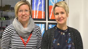 Malin Enell-Grön och Anne Ström.