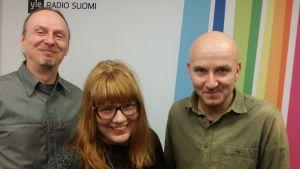 Juha-Pekka Sillanpää, Susanna Vainiola ja Samuli Putro Levylautakunnassa