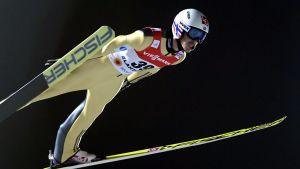 Andreas Stjernen var bästa norrman i den individuella tävlingen. Han förlorade bronset med 0,6 poäng.
