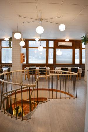 Matsal, personalrestaurang vid Norkalks kontor i Pargas.