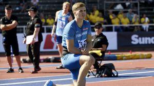 Oliver Helander kastade tre gånger i Stockholm.
