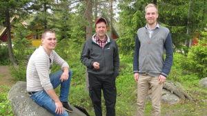 Ron Lönnqvist, Johan Österbacka och David Forsblom