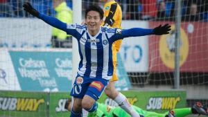 Atomu Tanaka firar mål, HJK-VPS, 5.4.2017.