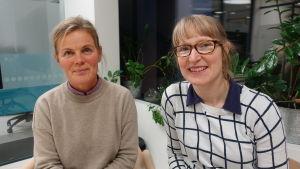 Elisabeth Eriksson och Cecilia Nyman från Marthaförbundet.