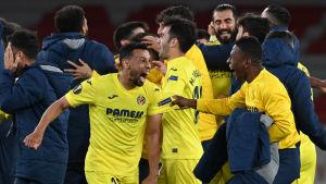 Villarreal firar i Europa League.