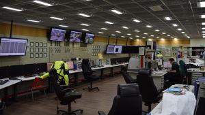 Kontrollrummet på kolkraftverket i Ingå