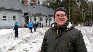 Markus Grönqvist, rektor för Kråkö skola