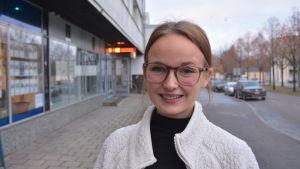 Ronja Karvinen, första viceordförande i Vasa ungdomsfullmäktiges styrelse.