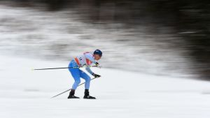Matti Heikkinen i spåret.