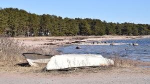 roddbåtar på strand