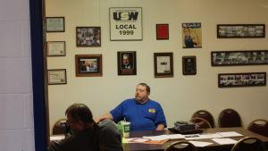 Don Zering i möte på Stålarbetarfackets lokalavdelning i Indianapolis.